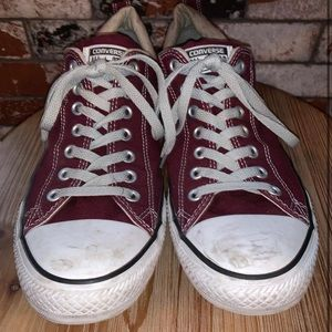 Maroon Low Top Chuck Taylors